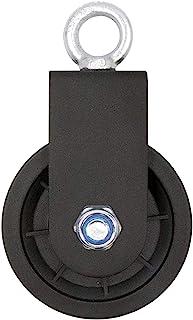 LFJ Enkele draaibare katrolblok, 90 mm gym-katrolsysteem met U-montagebeugel, rolhefwiel voor draadkabel Kabelmachine DIY-...