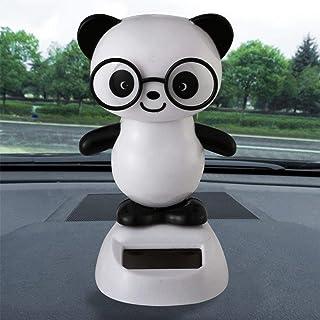 Gessppo Solar Powered Dancing Toys Swinging Cute Panda Dancer Toy Car Decor