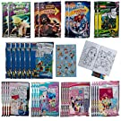 Tri-Coastal (30 Pack) Grab & Go Play Packs Set Cartoon Stickers for Kids Coloring Books Crayons Party Favors Bulk for Boys Girls Avengers Star Wars Princess Paw Patrol