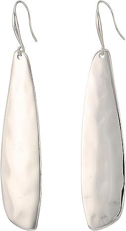 Robert Lee Morris - Shiny Silver Linear Earrings
