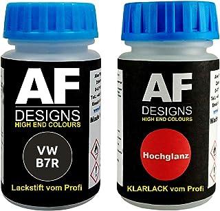 Lackstift für VW/Volkswagen B7R LB7R Mangangrau Metallic + Klarlack 50ml Autolack