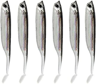 comprar comparacion akaddy 6pcs 2.1g/70mm T Tail Soft PVC Fishing Lures Fresh Water Sea Fishing Baits