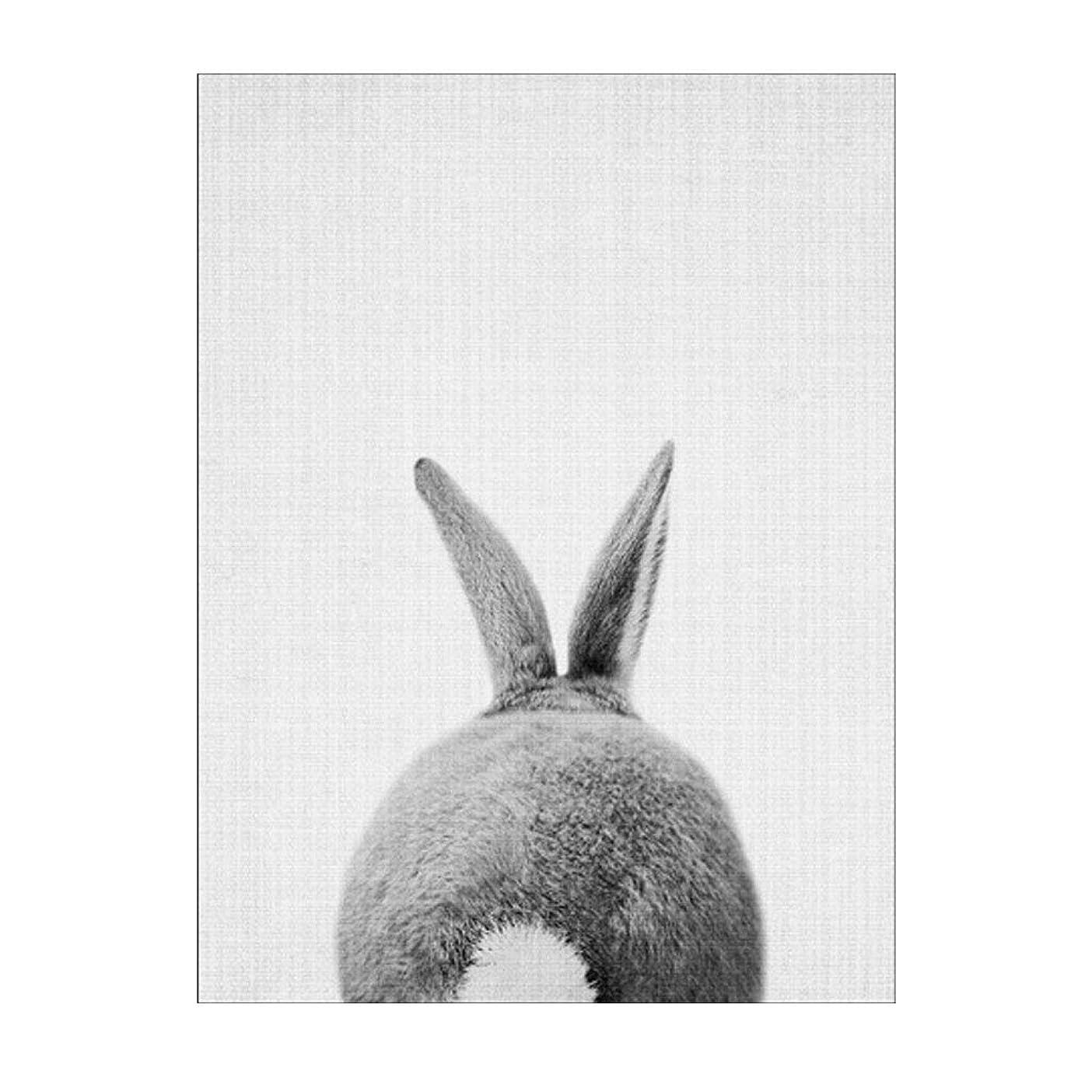 減らす放射する期待してYANW キャンバスプリントアート画像ポスターアートワークHDプリントウサギグレーフレームなしのリビングルームの装飾壁 (Color : B, Size : 21*30cm)