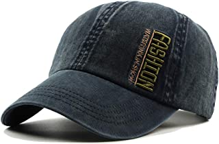 Unisex Fashion Simple Casual Baseball Cap Embroidery Sport Outdoor Personality Sun Hat Breathable Adjustable Back Light Weight Washed Cap B919 (Color : 3, Size : Free Size)