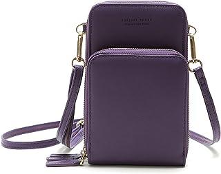 حقيبة جسم صغيرة للنساء مع حزام قابل للتعديل نمط سادة حقائب بسحاب متعددة الأغراض حقيبة كتف صغيرة مقاومة للماء محفظة الحقيبة