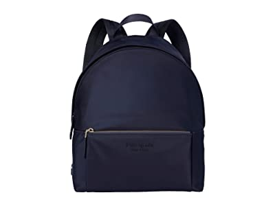 Kate Spade New York The Nylon City Pack Large Backpack (Rich Navy) Backpack Bags