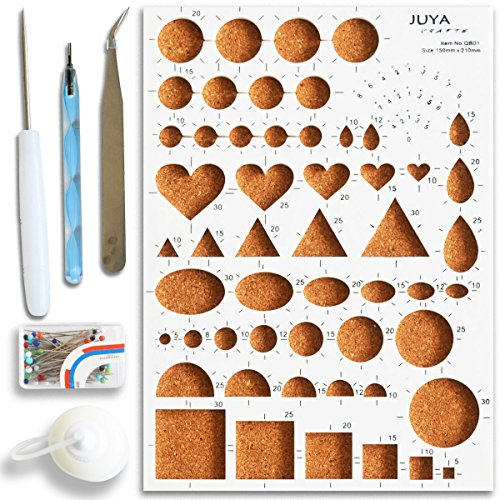 Juya Paper Quilling Tools Kits with Board, Slotted, Glue Bottle and Others (Blue Tools)