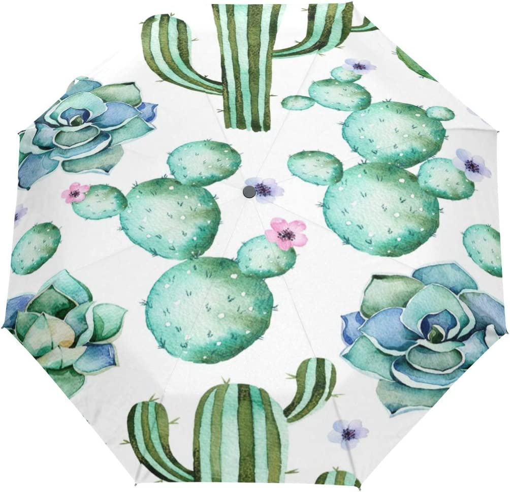 Umbrella Auto Al sold out. Open Close Plant Seamless 3 Flower 5 ☆ very popular F Pattern