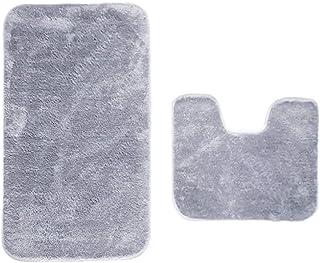 IYOYI Juego de 2 Alfombrillas de Baño de Microfibra Suave Antideslizante con Alfombrilla de Baño Absorbente de Agua en For...