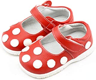 Baby Red Leather Mary Jane Shoes.