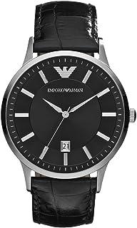 Emporio Armani Men's Classic Analog Analog-quartz Black Watch, (AR2411)