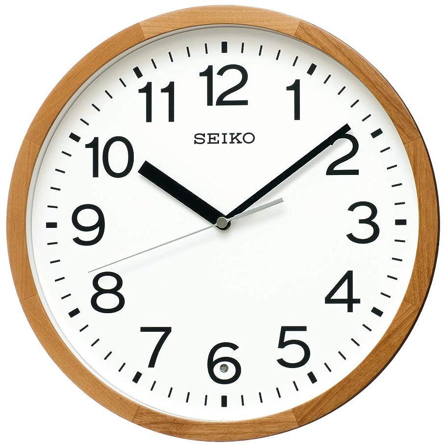 トランスミッション書士市区町村セイコークロック 掛け時計 天然色木地 直径30×4.7cm 電波 アナログ 木枠 KX249B