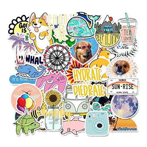 85pcs Graffiti Adesivi Sticker, Stickers Vinyl Kawaii Decals, Adesivi Valigia, Adesivi per Computer Laptop Skateboard Viaggio, Bottiglie D'acqua Auto Moto Biciclette/per Bambini Adolescenti Adulti