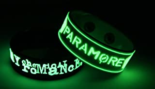 PARAMORE 2PCS New! Glow in the Dark Bracelet Wristband 2X 52G8