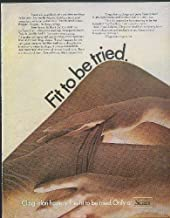 Fit to be tried. Sears Cling-alon Hosiery ad 1968