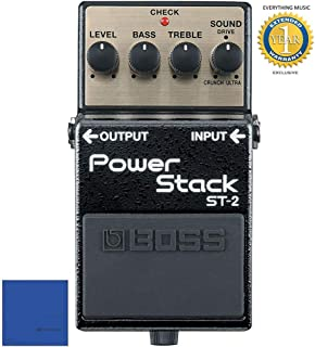 Boss ST-2 Power Stack Distortion Guitar Effects Pedal with 1 Year Free Extended Warranty