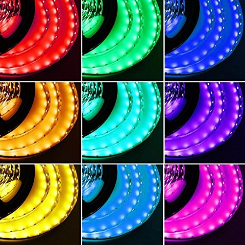Striscia 5M 300 LED SMD 5050 DC 12V RGB Impermeabile + 24 Tasti Telecomando