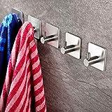 ZUNTO 5 Piezas Ganchos Adhesivos Para Pared Gancho para Baño, Acero Inoxidable 304