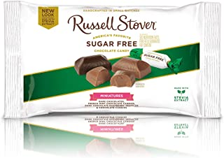 Russell Stover Sugar Free Assorted Miniatures, 9 Ounce Bag, 12 Count