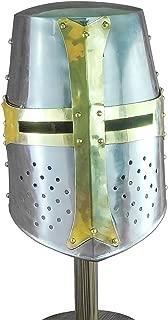 knights templar crusader helmet