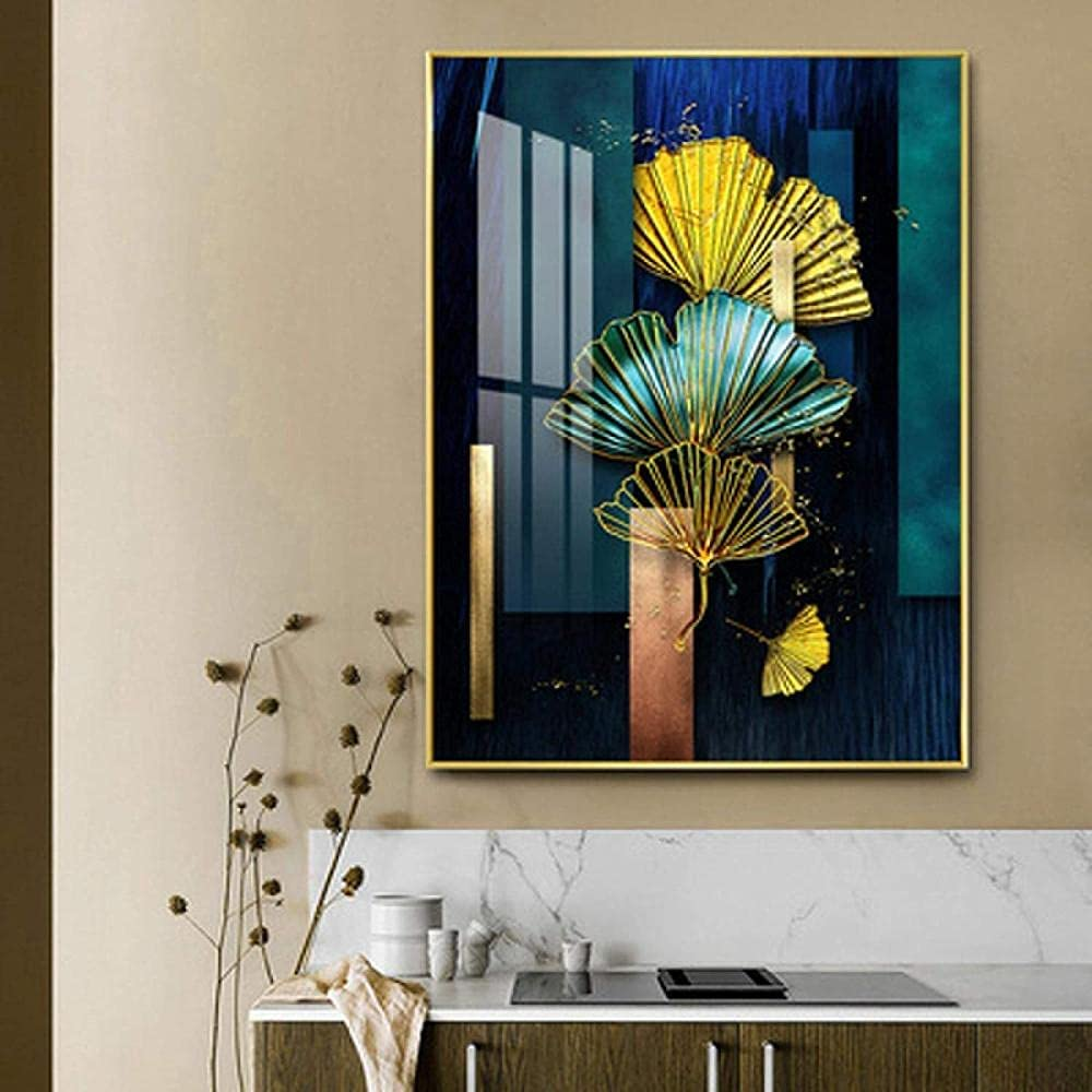 ZGWEI High quality new Canvas Painting Modern Green OFFicial shop Prints Pos Chinese Style Gold