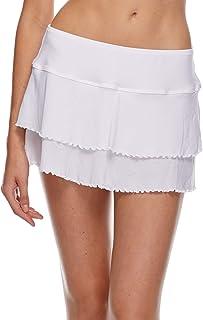 Body Glove Women's Smoothies Lambada Solid Mesh Cover Up Skirt Swimsuit