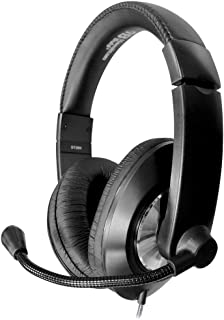 HamiltonBuhl Smart-Trek Headset | Durable Steel-Reinforced Gooseneck Mic, 3.5mm TRRS Plug