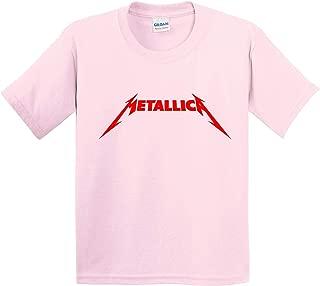 Trendy USA 1331 - Youth T-Shirt Metallica Metal Rock Band Logo