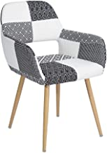 FurnitureR Silla de Comedor y Silla de salón con reposabrazos de diseño Europeo Patchwork
