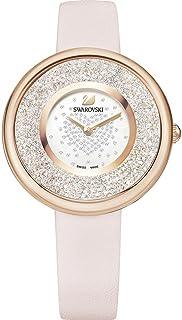 Swarovski Crystalline Pure Pink Leather Ladies Watch 5376086