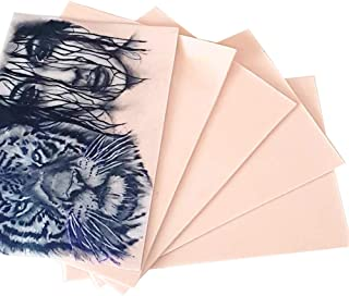 """Kalolary Tattoo oefenhuiden,10st 8x6""""dubbele kanten praktijk nep huid tattoo huid praktijk voor beginners kunstenaars tatt..."""