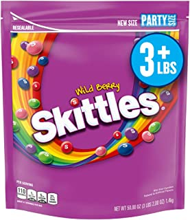 Skittles SKITTLES Wild Berry Candy Party Size Bag, 50 Ounces