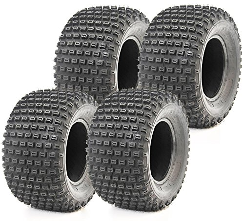 Set of 4 New WANDA ATV Tires 22X11-10 4PR P322 Dimple Knobby - 10030