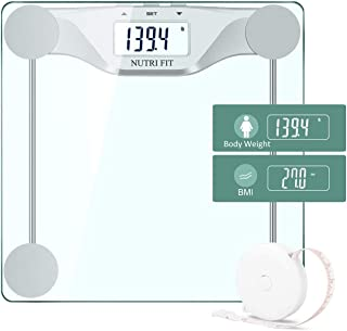 Digital Body Weight Bathroom Scale BMI, Accurate Weight Measurements Scale,Large Backlight Display and Step-On Technology,...