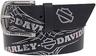 Harley-Davidson Women's Mirage Foil Printed Belt, Genuine Leather HDWBT11024-BLK