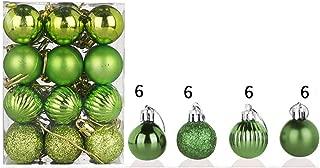 YUNIAO 24PCS 30MM Christmas Party Pendant Christmas Xmas Tree Ball Bauble,Hanging Home Party Ornament Decor,Home Party Ornament Decor,Christmas Element Ball