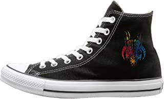 Luxuriant Graphic Evil Demon Head Fashion Casual Canvas High-top Sneakers Unisex