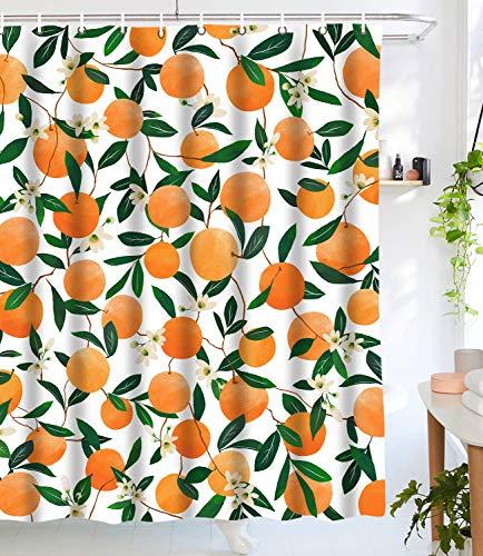 Lifeel Orange Shower Curtains,
