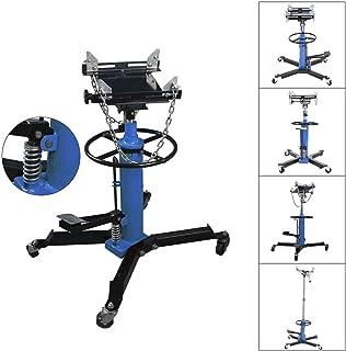 SuxiDi 2 Stage1100LBS Hydraulic Transmission Jack w/ 360° Swivel Wheels Lift Hoist Blue [US Stock]