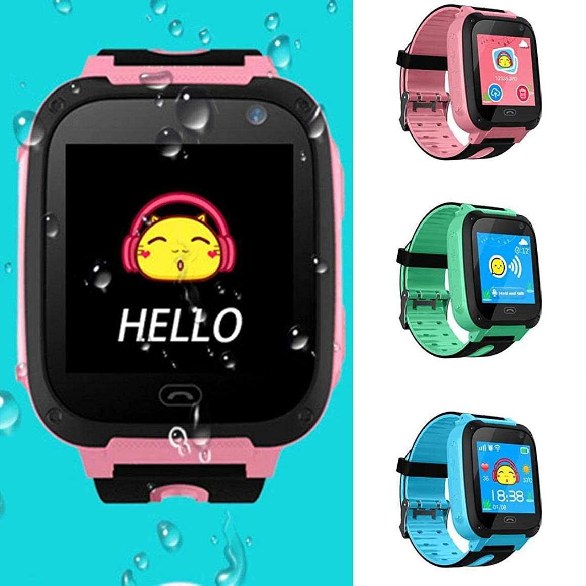 1PC Children Waterproof Smart Wrist Watch Phone Tracker SOS Call with Camera