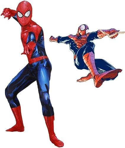 SEJNGF Superhéroe Spiderman Cosplay Medias Siamesas Juego De Anime con Personajes De Halloween (Juego De Sombreros No Se Pueden Separar),azul-XL