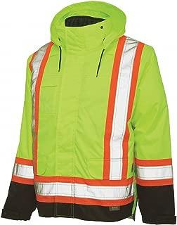 Hi-Vis Parka, 5-in-1, Fluorescent Grn, L