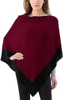 012b8c702 Celeste Ladies' Colorblock Cashmere Blend Travel Wrap Poncho