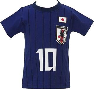 【本体綿100%】2018年 夏物 サッカー日本代表 ストライプ 半袖Tシャツ オフィシャルライセンスグッズ