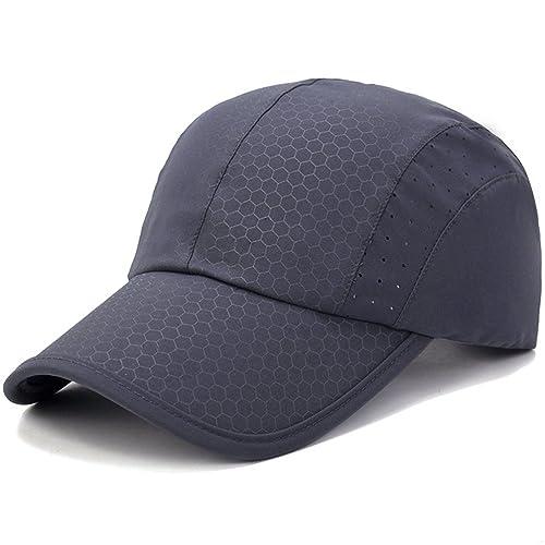 296e9a33178 GADIEMENSS Soft Brim Lightweight Running Hat Waterproof Breathable Quick  Dry Sport Cap Men Woman