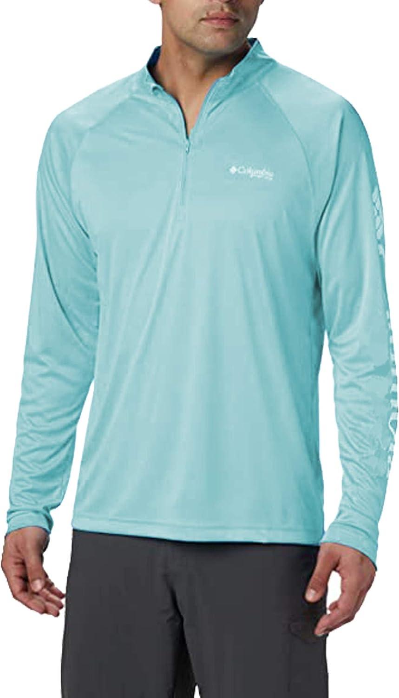 Columbia Men's Rapid Creek 1/4 Zip Lightweight Pullover, Mint Green, Medium