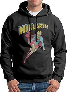 RivaJo Super Hill Hillary Clinton for President 2016 Men's Printing Design Hoodies