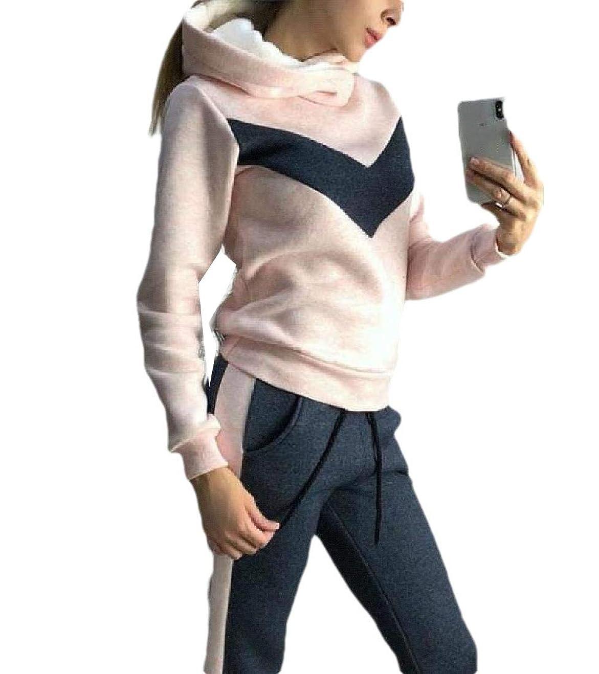 疼痛詩ラッドヤードキップリングGodeyesW Womens 2 Piece Fleece Casual Workout Gym Fleece Sweatsuit with Hood