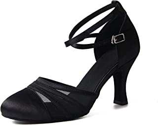 Syrads Chaussures de Danse Latine pour Femmes Chaussures de Danse Tango Valse Fête Sociale Salsa Sandale