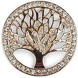 styleBREAKER Colgante de Adorno magnético del árbol de la Vida para chales, pañuelos o Ponchos con Piedras de estrás, Broche, señora 05050029, Color:Oro Rosado